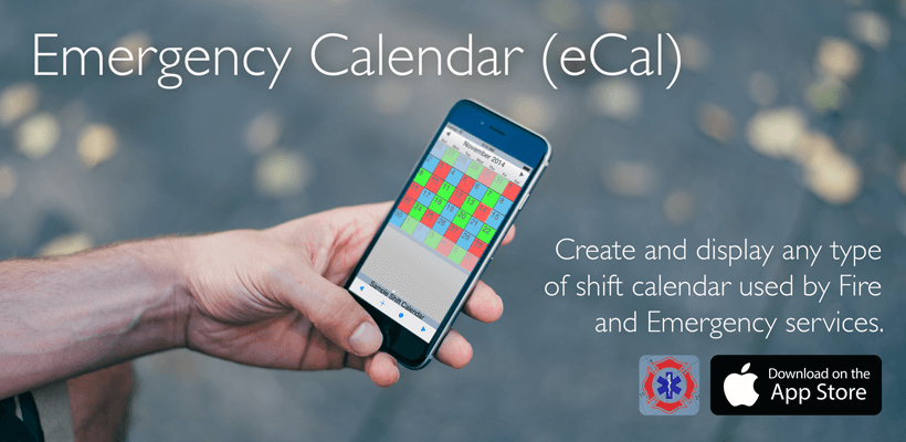 Emergency Calendar (eCal) Shift Calendar for iPhone