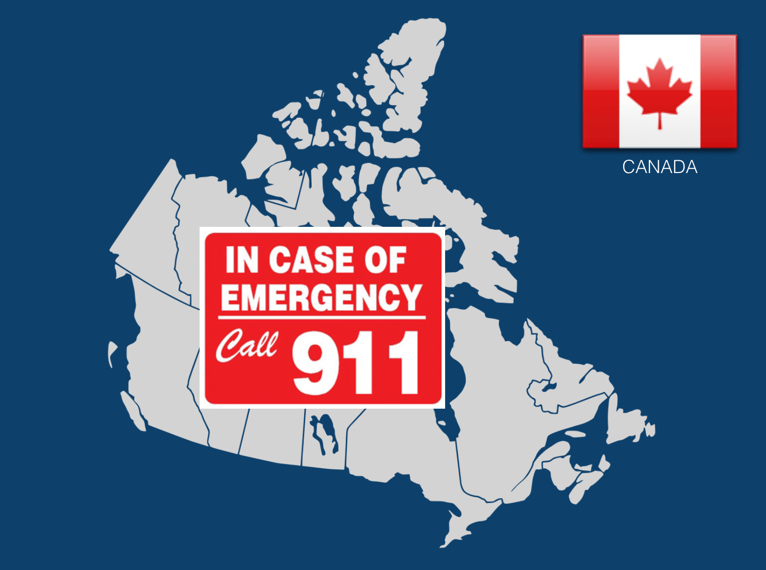 Dial 911 to call an ambulance in Canada