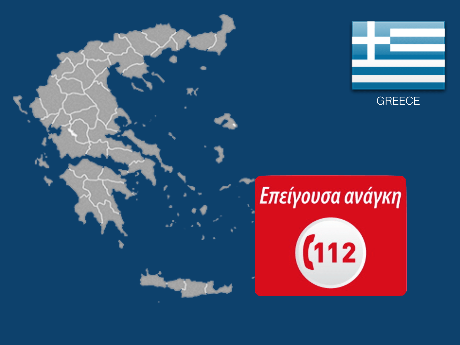 Dial 112 or 166 to call an ambulance in Greece