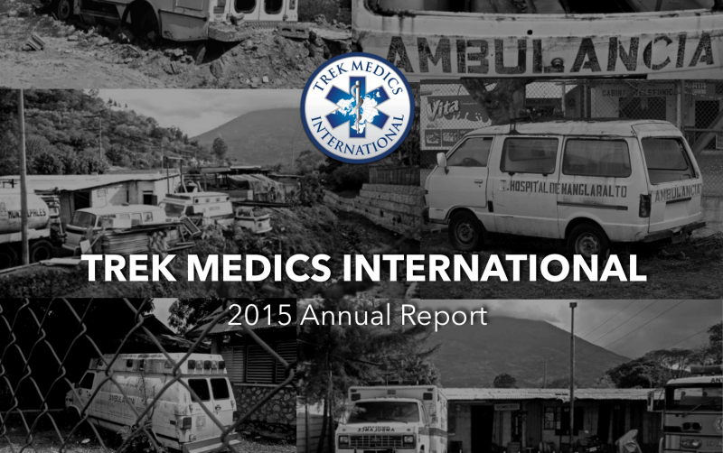 2015 Annual Report - Trek Medics International
