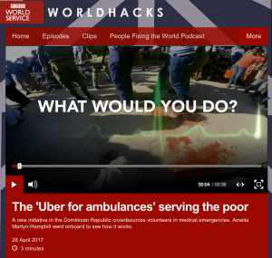 Trek Medics on BBC World Hacks - Apr. 28, 2017