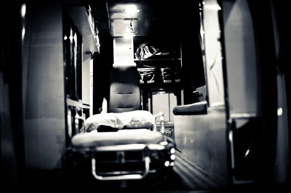 patient ambulance compartment