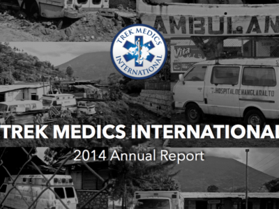 Annual Report 2014 - Trek Medics International