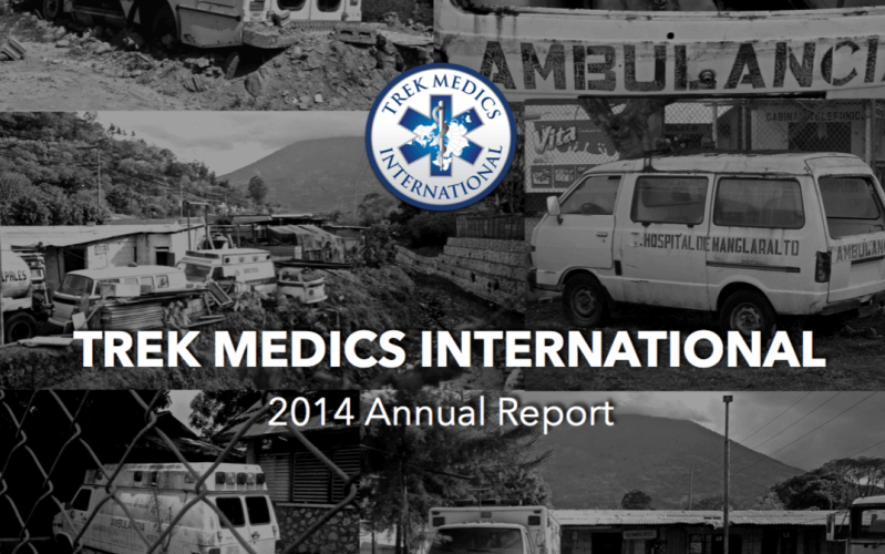 2014 Annual Report - Trek Medics International