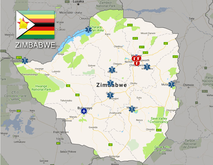 Dial 999 to Call an Ambulance in Zimbabwe