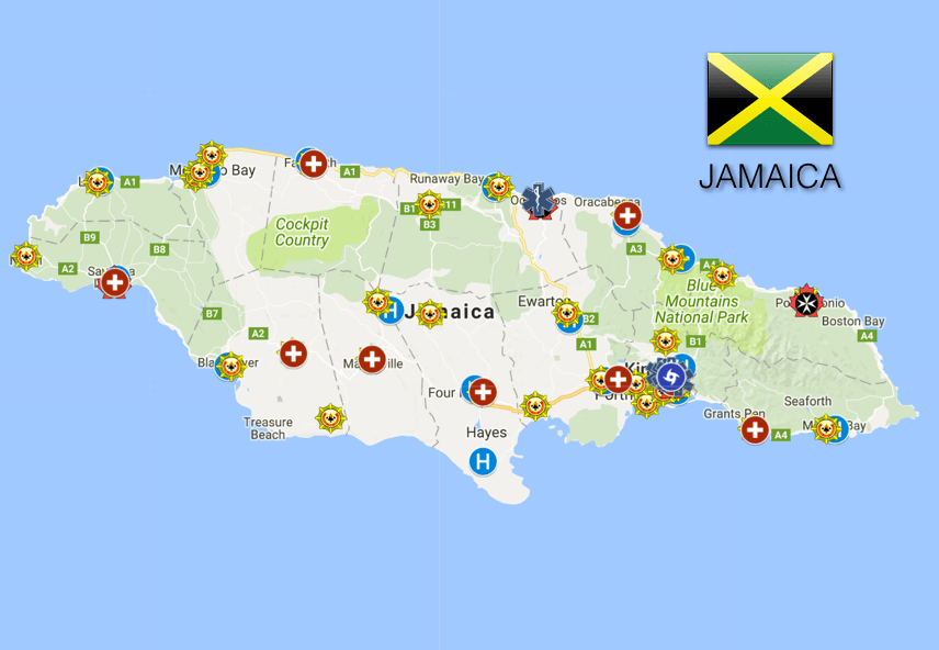 EMS Coverage Map: Jamaica