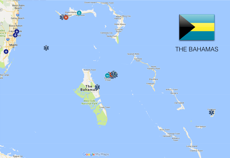 EMS Coverage Map: Bahamas