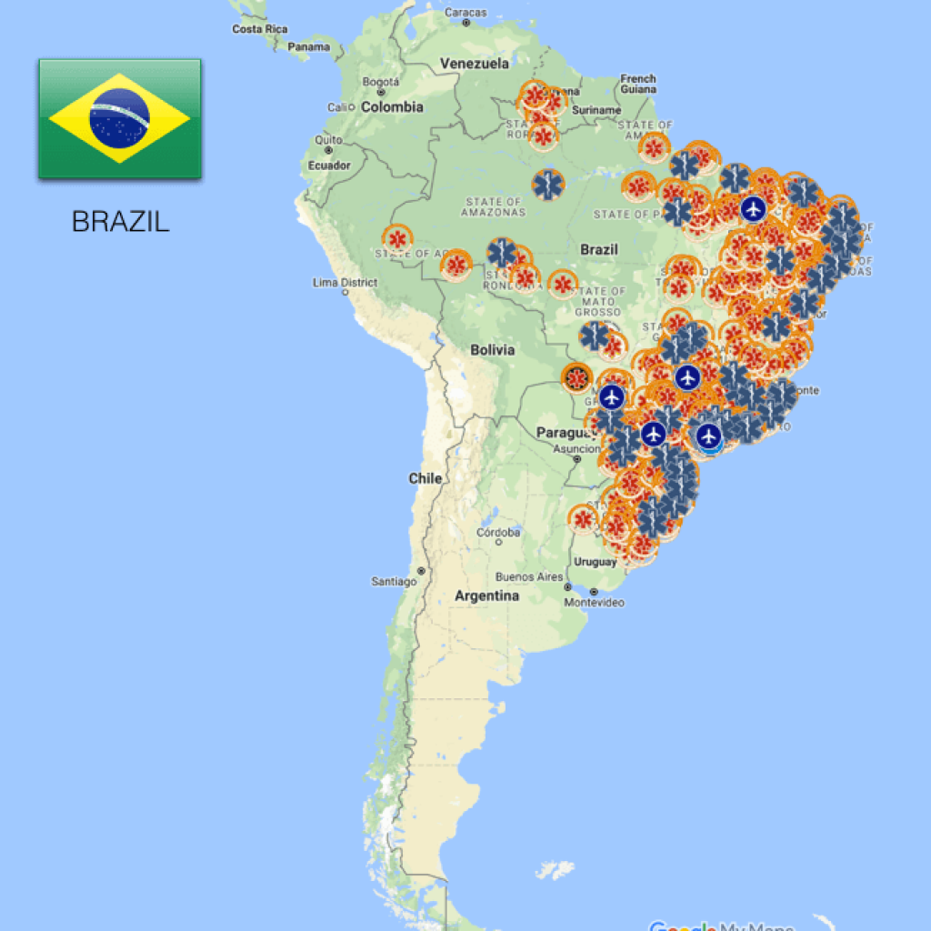 EMS Coverage Map - Brazil