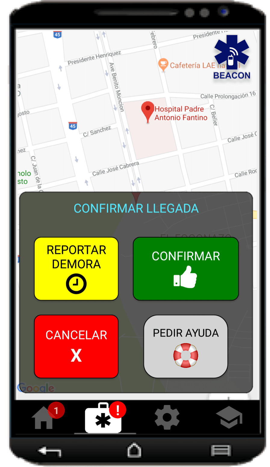 beacon-despacho-de-emergencia_05_confirmar-llegada-al-hospital_android_esp