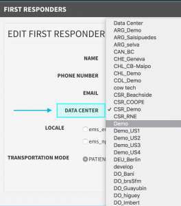 Edit First Responder Data Center_Beacon Mobile App