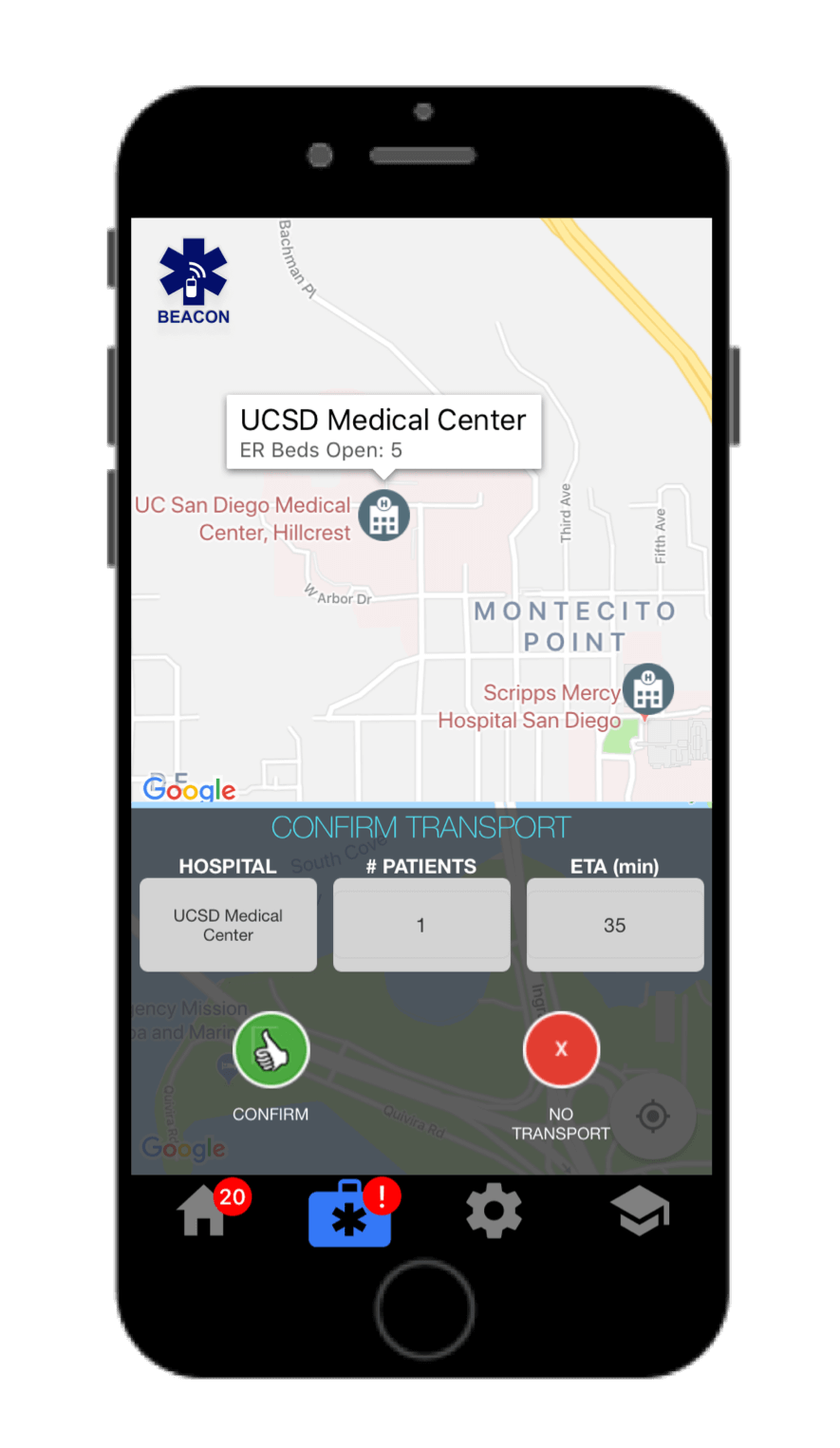 Beacon Emergency Dispatch for iOS - Message 4: Confirm Transport