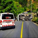 Camión Volcado - Bomberos Voluntarios de Guatemala