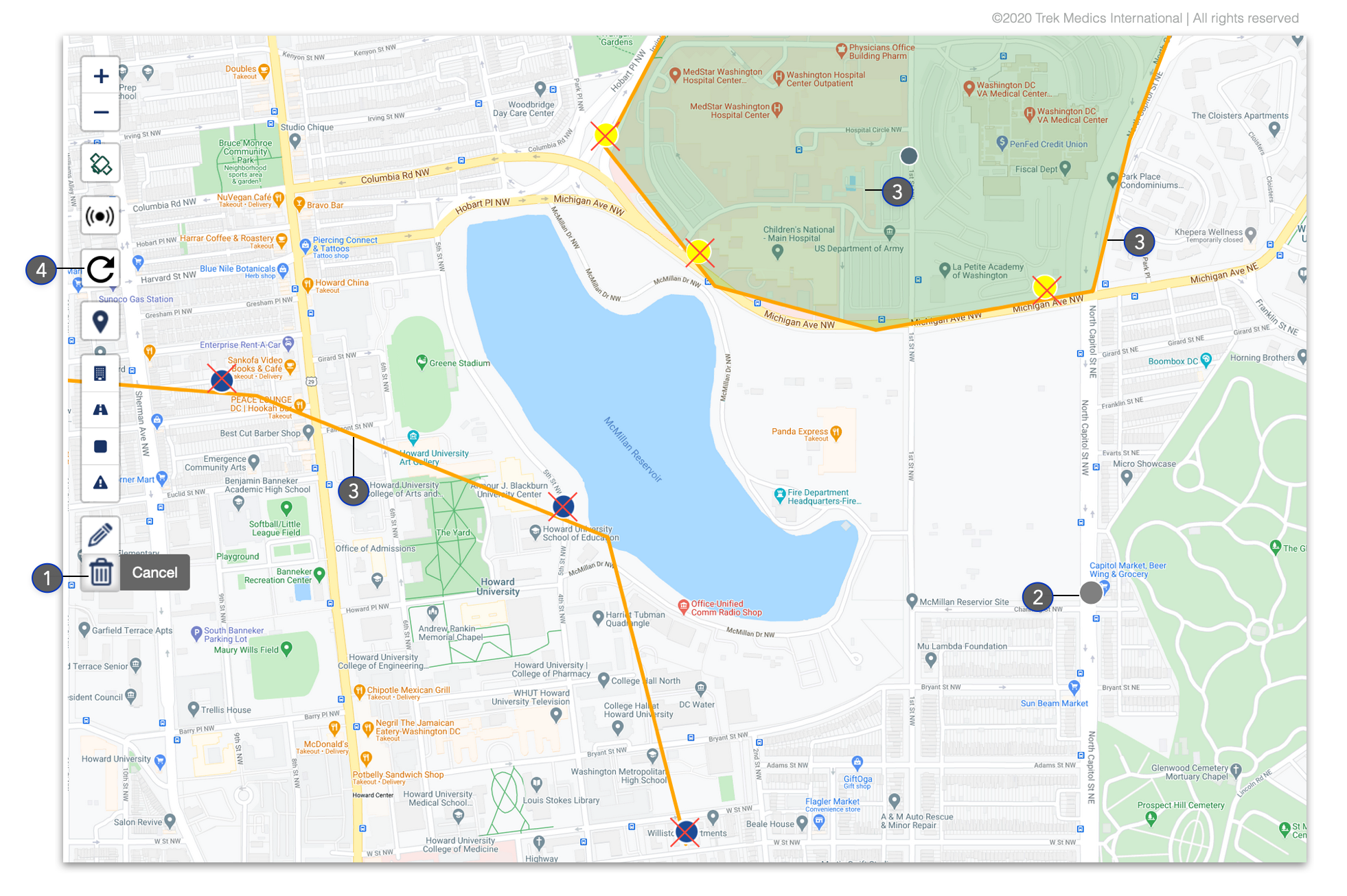 Delete Map Markers - Dispatcher Guide - Beacon Emergency Dispatch v4.0