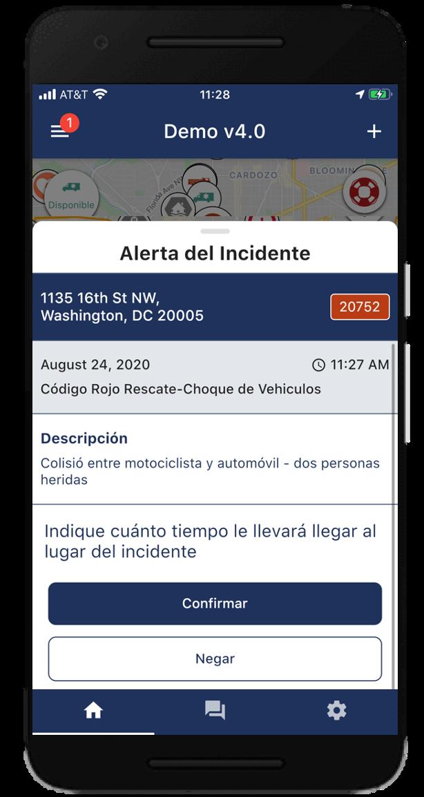 Alerta del Incidente_Beacon Emergencia App Móvil v4.0_ESP