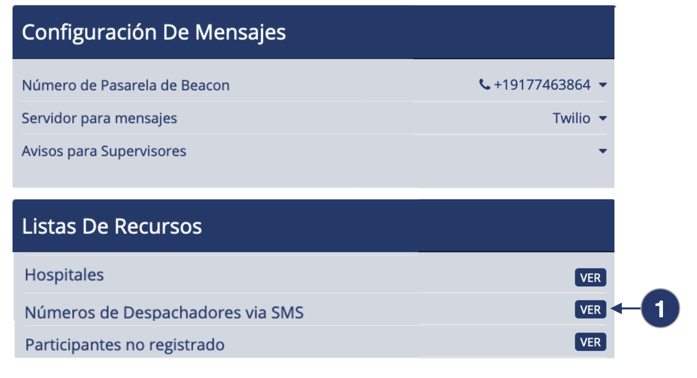 Despachadores via SMS1 - Guía Despachador - Despacho de Beacon v4.0