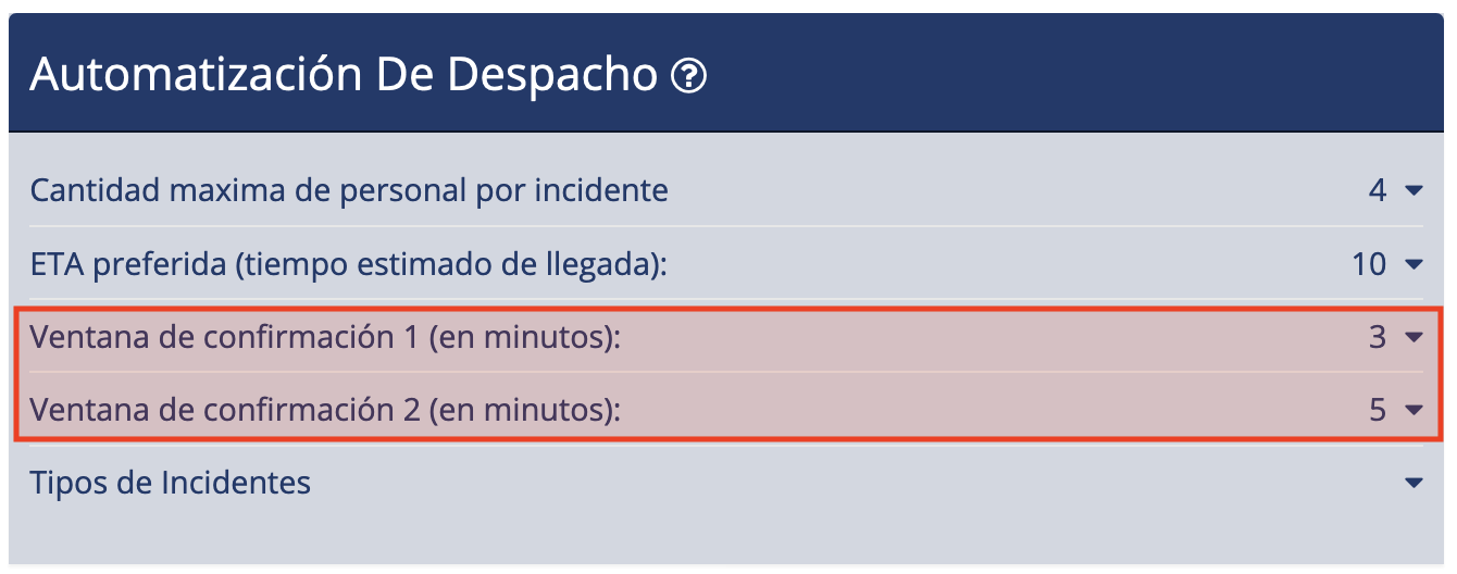 Ventanas de Confirmación - Despacho de Emergencia Beacon v4.0