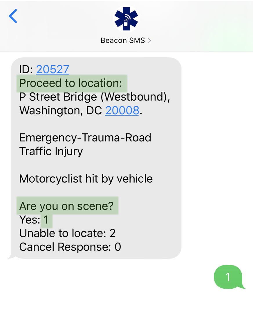 Beacon SMS 4.0 - On Scene