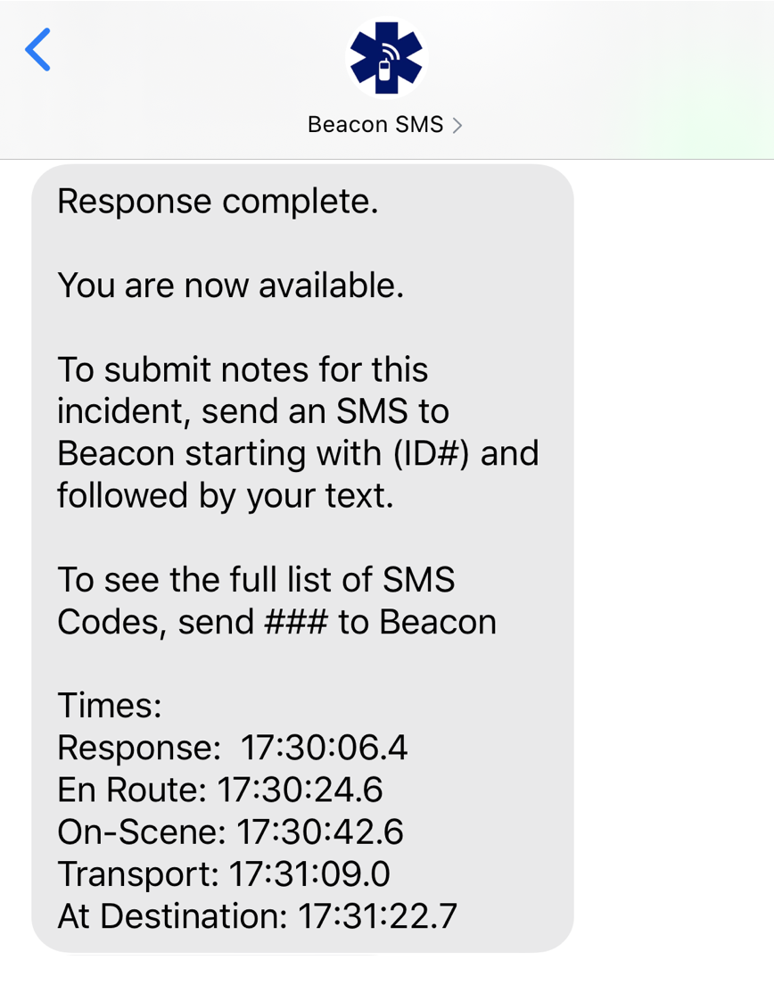 Beacon SMS 4.0 - Response Times Summary