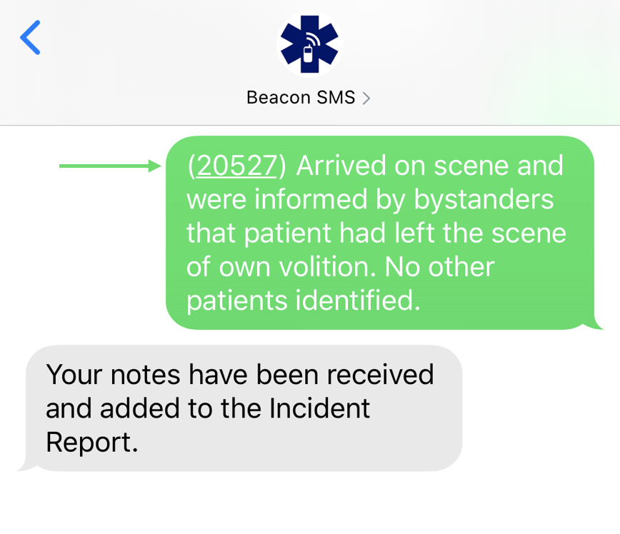 Beacon SMS 4.0 - Responder Notes